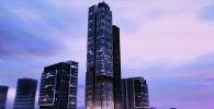 Представлен макет 50-этажного здания, которое хотят построить в Ташкенте.