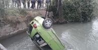 В Оше водитель авто марки Daewoo Matiz упал в канал