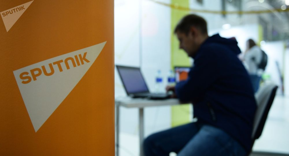 Логотип международного информационного агентства и радио Sputnik. Архивное фото