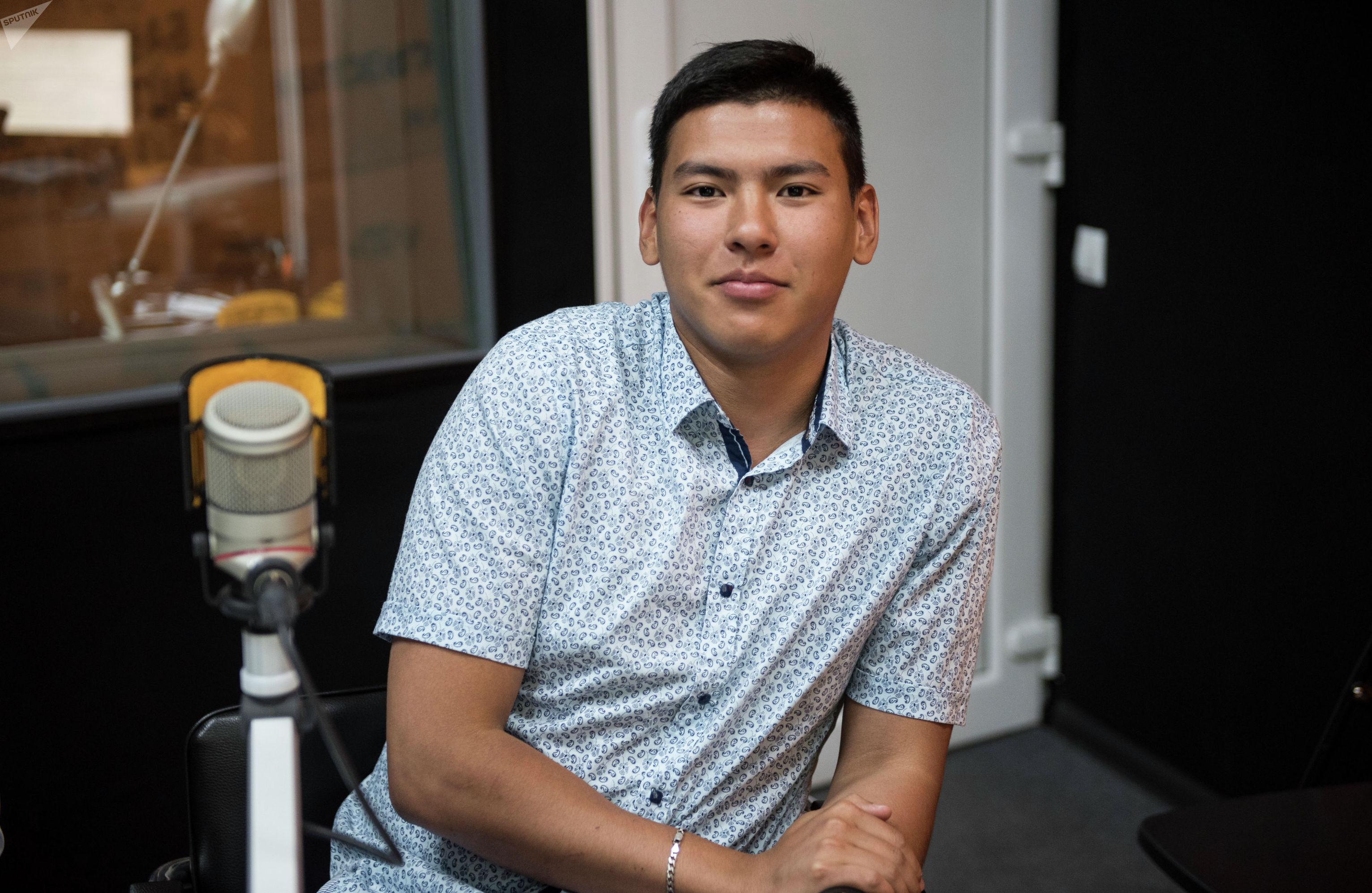 Студент Кыргызского государственного технического университета Алишер Абдухадыров