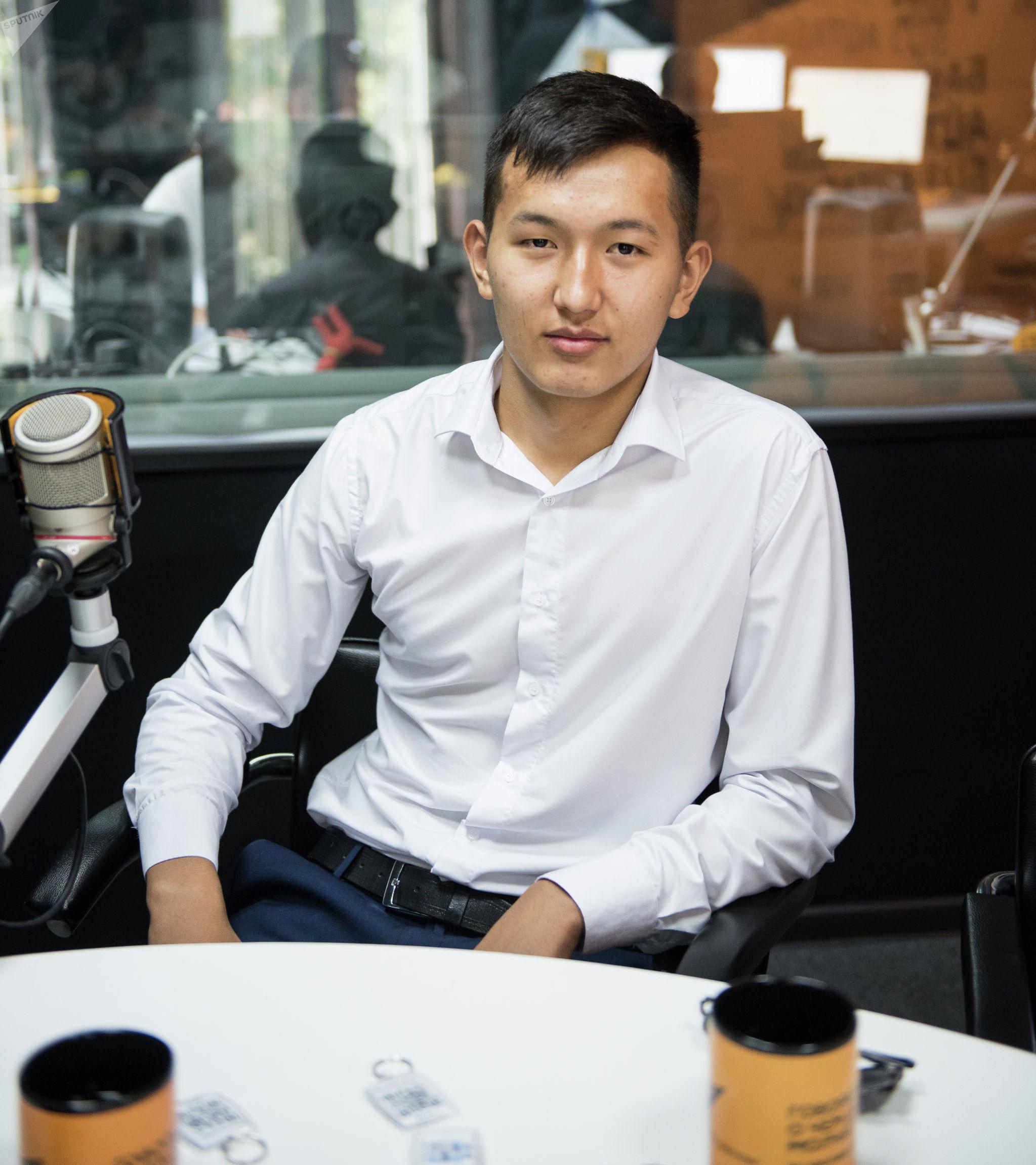 Студент Кыргызского государственного технического университета Дастан Алмазбеков