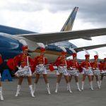 Шереметьево (Москва) аэропортунан Vietnam Airlines авиакомпаниясынын учагын тосуп алышты.