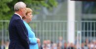 Канцлер ФРГ Ангела Меркель на встрече с премьер-министром Финляндии Антти Ринне. 10 июля 2019 года