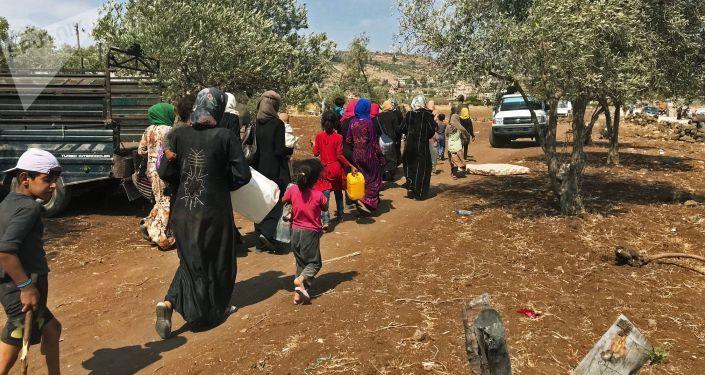 Женщины и дети на юго-западе сирийской провинции Дераа. Архивное фото