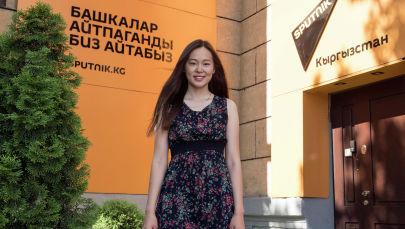 Основатель клуба программирования Neobis, где обучаются студенты IT-сферы Санира Маджикова во время фотосета
