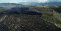 Последствия пожара сухотравья на юге Бишкека