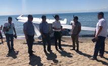 Самолет для поиска гражданина Казахстана пропавшего на скутере в озере Иссык-Куль