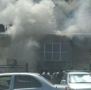 В Бишкеке произошел пожар на территории рынка Таатан