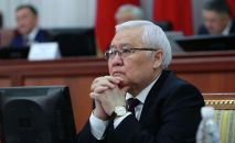 Өкмөттүн Жогорку Кеңештеги өкүлү Ашырбек Темирбаев. Архив