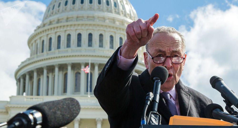 АКШ конгрессинин сенатындагы демократиялык азчылыктын лидери Чак Шумер. Архивдик сүрөт