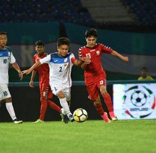 Капитан юношеской сборной Кыргызстана по футболу (U-16) и игрок столичного клуба Илбирс Ырыскелди Тыныбеков