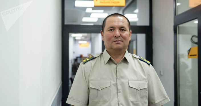 Улуттук гвардиянын кол башчысынын орун басары, полковник Руслан Исабеков. Архив