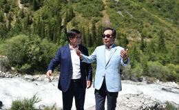 Премьер-министр Мухаммедкалый Абылгазиев и Премьер-министр Кореи Ли Нак Ён посетили ущелье Ала-Арча