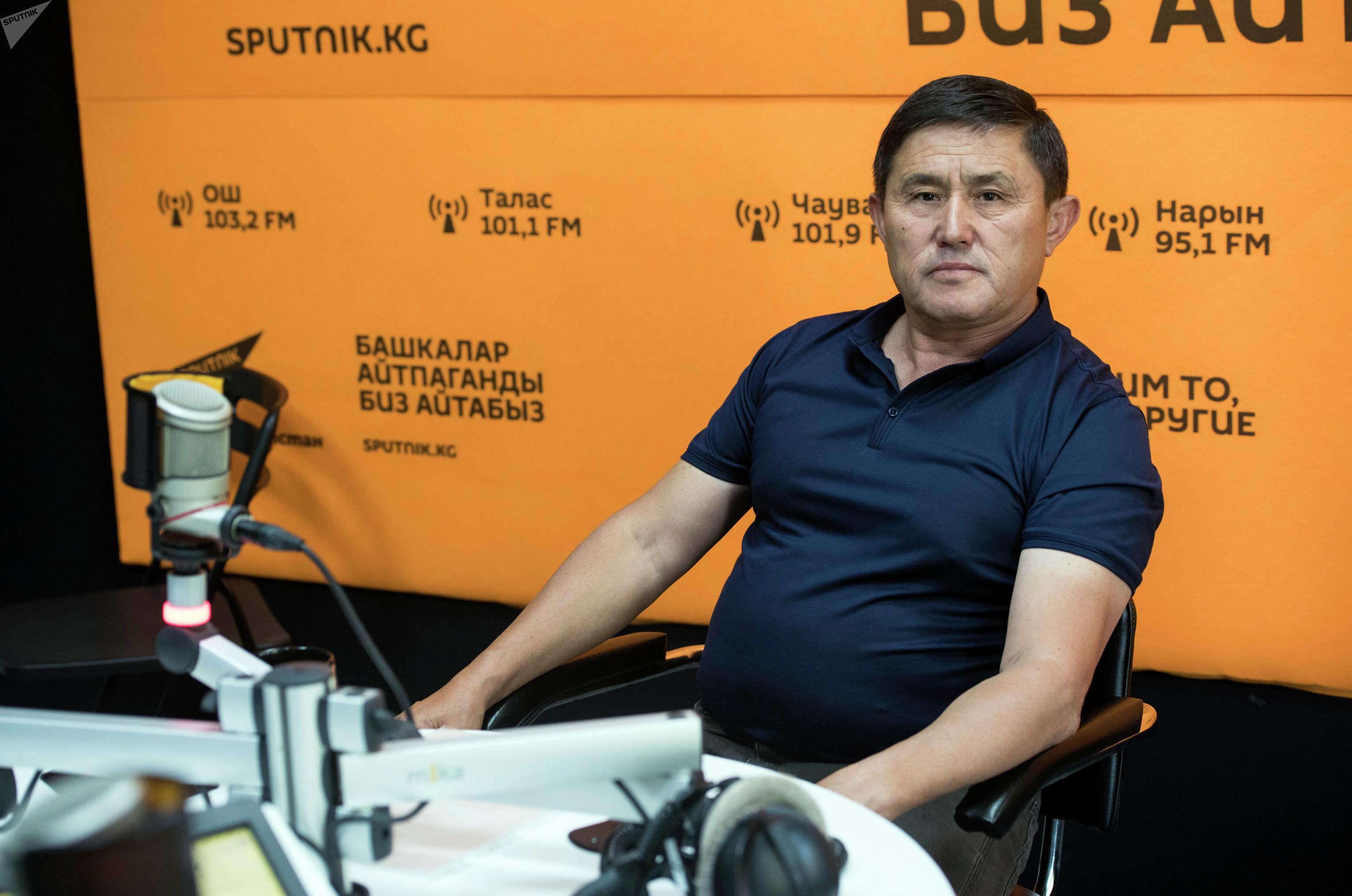 Ветеран афганской войны, полковник Орозбай Колубаев во время беседы на радио Sputnik Кыргызстан