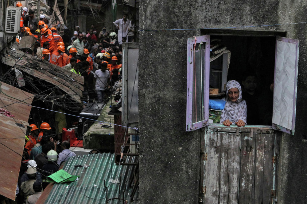 Обрушение здания в Мумбаи, Индия