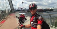 Бишкекчанин Сергей Прядко, отправившийся в путь из Бишкека во Францию на велосипеде