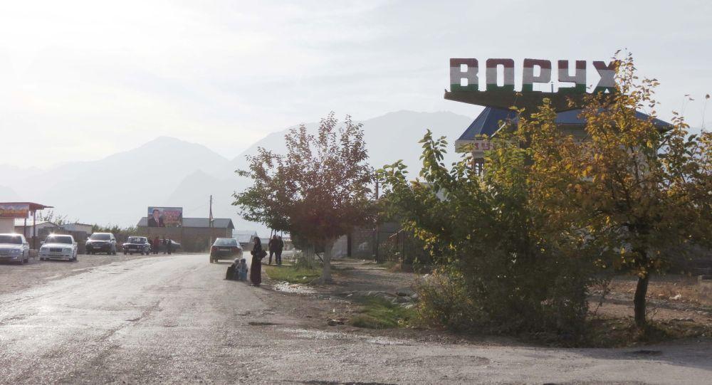 Село Ворух на границе Кыргызстана и Таджикистана