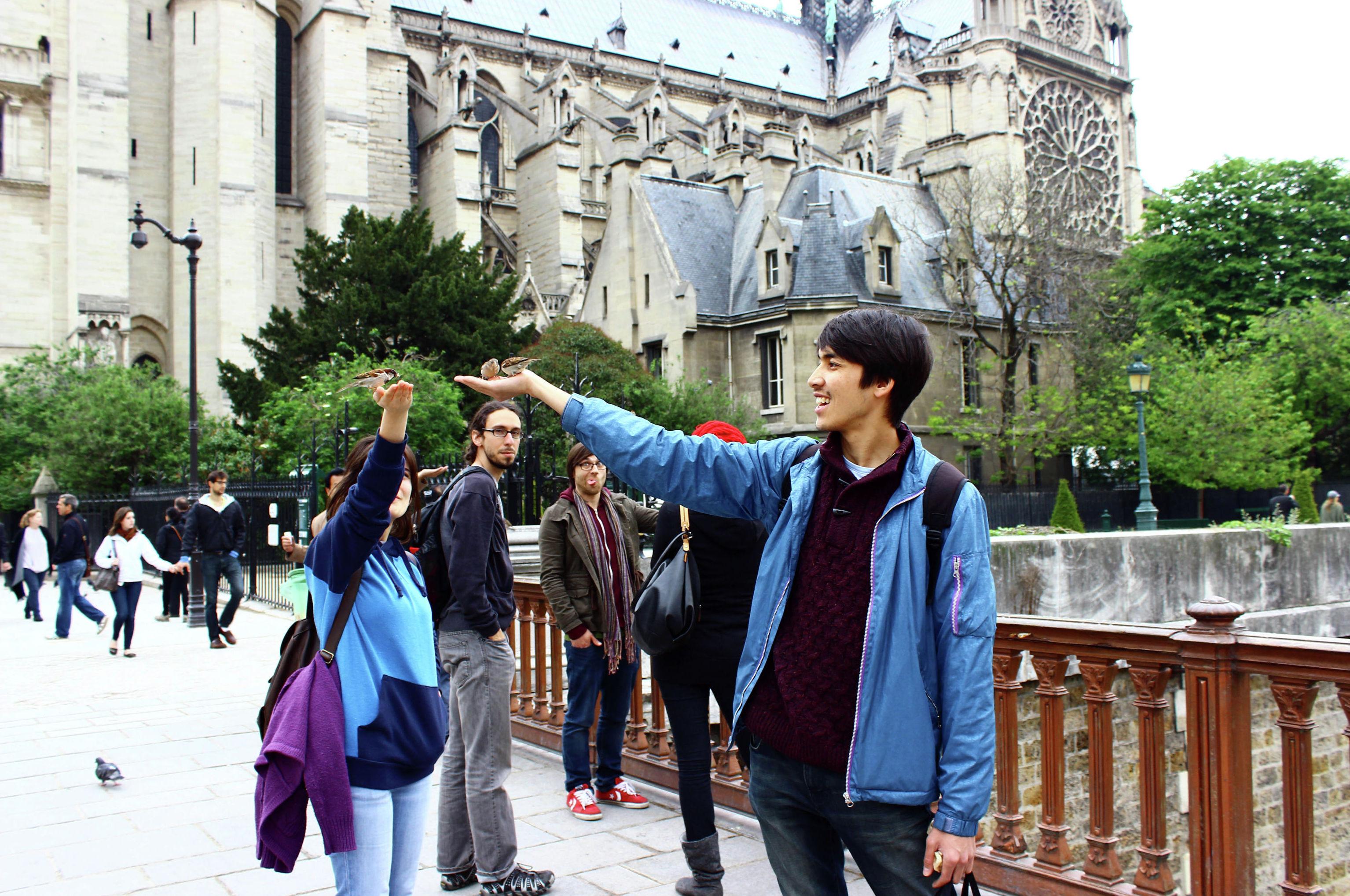 Кыргызстанец Бауржан Токтабеков во время путешествия по Европе