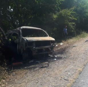 Последствия ДТП с участием автомобилей Stepwgn и Тоyota Camry в Токтогульском районе