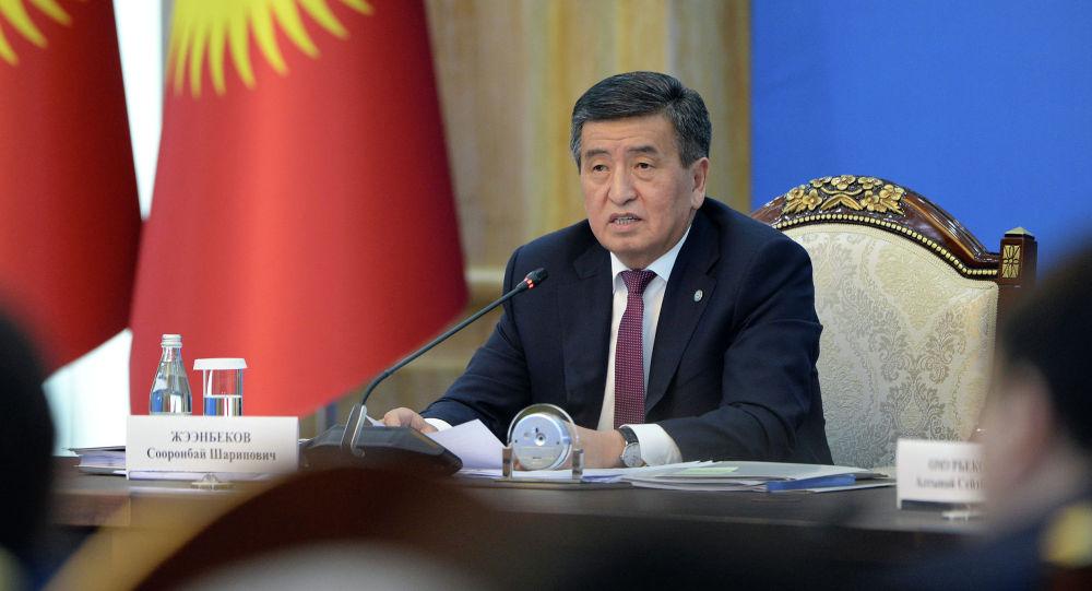 Президент Кыргызской Республики Сооронбай Жээнбеков на первом заседании Совета по связям с соотечественниками за рубежом при Президенте Кыргызской Республики. 2 августа 2019 года