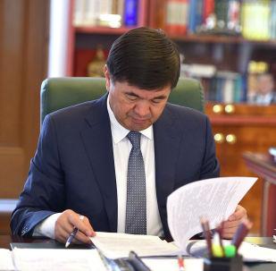 Өкмөт башчы Мухаммедкалый Абылгазиев. Архивдик сүрөт