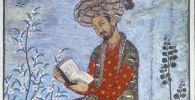 Бабур Захиреддин Мухаммед, узбекский и индийский правитель, полководец, основатель государства Великих Моголов, поэт и ученый. Миниатюра XVI века. Репродукция.
