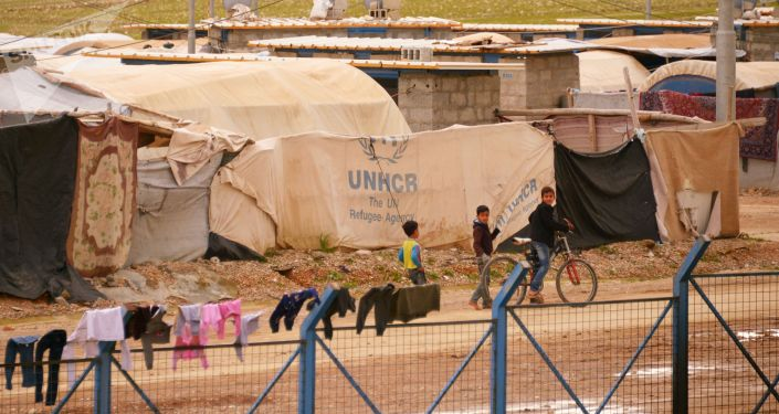 Лагерь беженцев в Ираке. Архивное фото