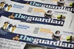 Газеты Guardian сфотографировано в офисе в Лондоне. 26 января 2016 года