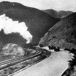 Боом капчыгайындагы темир жол жана автотрасса. 1957-жыл