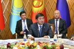 Премьер-министр Кыргызстана Мухаммедкалый Абылгазиев на заседании Евразийского межправительственного совета в Чолпон-Ате