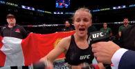 Чемпионка UFC в наилегчайшем весе Валентина Шевченко готова сразиться с кем угодно. Об этом она заявила после боя на турнире UFC Fight Night 156.