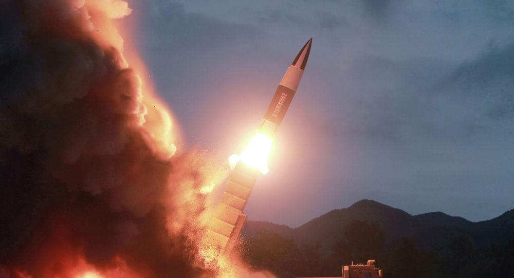 Пуск ракет в КНДР.  Архивное фото