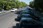 Автомобильные стоянки в городе Бишкек. Архивное фото