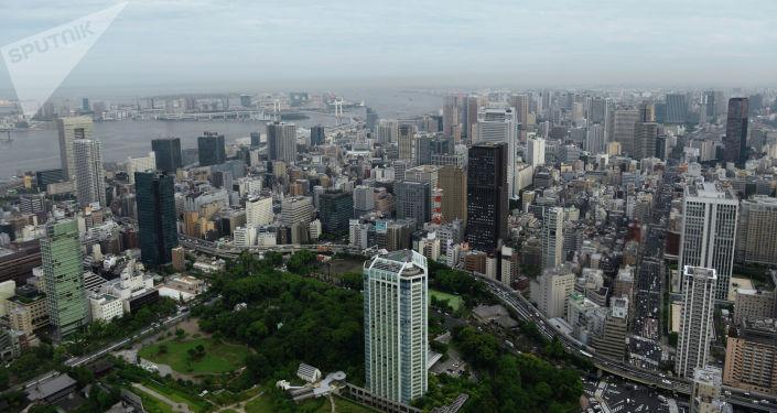 Город Токио. Япония. Архивное фото