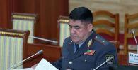 Ички иштер министринин мурунку орун басары Курсан Асанов. Архивдик сүрөт