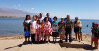 Дети из города Арыс, отдыхающих в оздоровительных центрах на Иссык-Куле