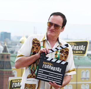Режиссер Квентин Тарантино во время фотоколла, посвященного премьере фильма Однажды в Голливуде
