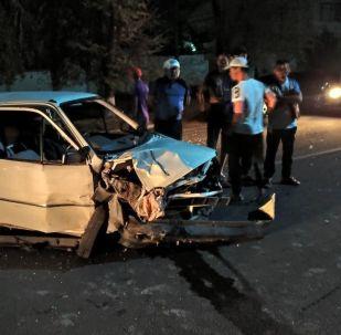 Бишкекте үч автоунаа катышкан жол кырсыгы катталды