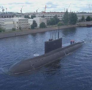 Подлодка Петропавловск-Камчатский вышла в акваторию Балтийского моря.