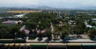 Вид на город Бишкек с дрона. Архивное фото