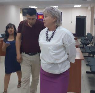 Депутат Жогорку Кенеша Ирина Карамушкина в Первомайском районном суде