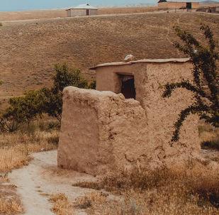 Лейлек районундагы Максат айылы. Архивдик сүрөт