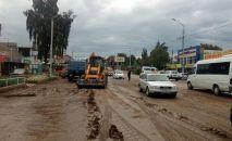 Последствия схода сели сели в городе Чолпон-Ата Иссык-Кульской области
