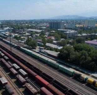 Железнодорожная станция по улице Льва Толстого в Бишеке