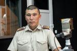 ӨКМдин өрт өчүрүү жана алдын алуу бөлүмүнүн офицери, капитан Асхат Муканов