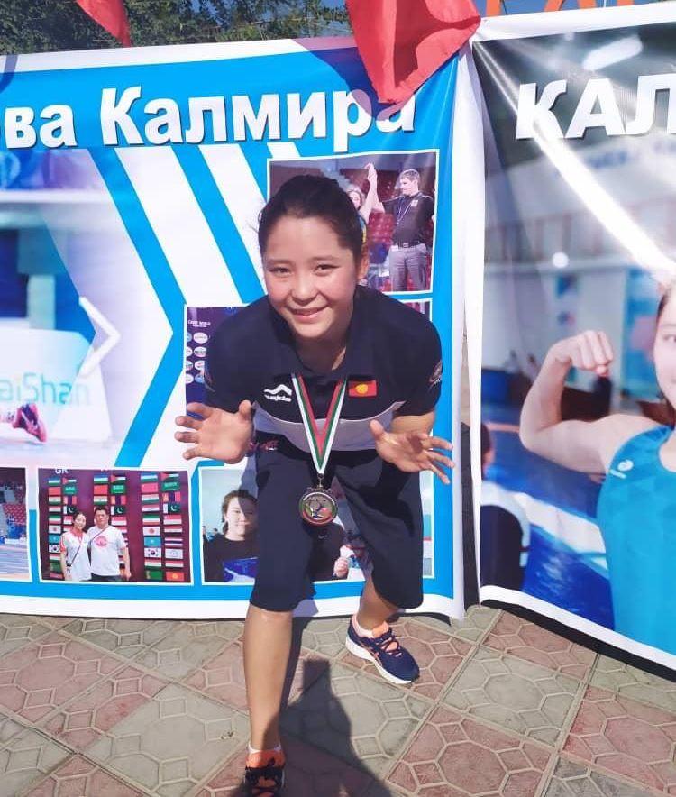 Серебряный призер чемпионата мира по спортивной борьбе среди юношей Калмира Билимбек кызы