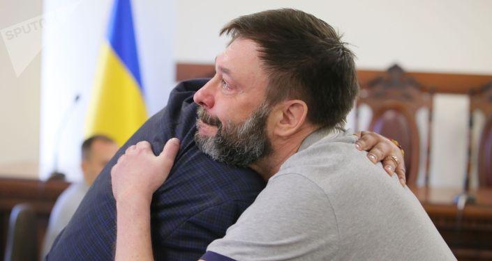 Руководитель портала РИА Новости Украина Кирилл Вышинский после заседания апелляционного суда Киева