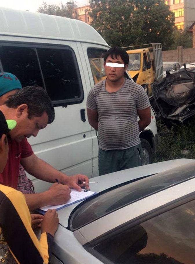 Подозреваемый водитель в  автонаезде на девочку в селе Сокулук