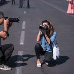 Фотожурналисты на праздничном мероприятии в Бишкеке