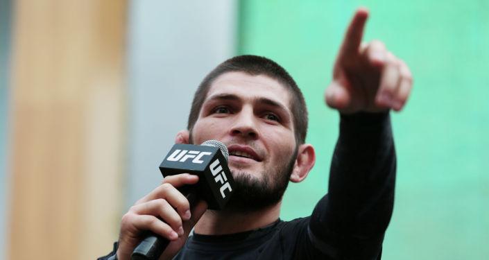 Чемпион UFC Хабиб Нурмагомедов. Архивное фото